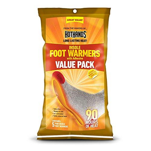 Aquecedor de pé da palmilha HeatMax Hothands Super Size Pacote econômico - 10 pares
