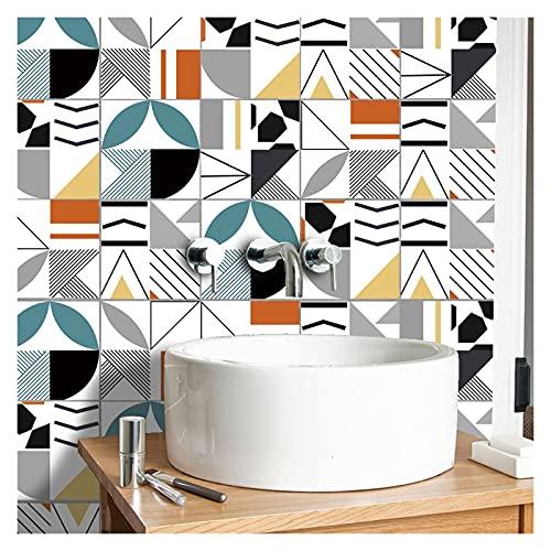 QOXEFPJZ Cenefa Adhesiva Cocina 10pcs Home Wall Etiqueta Etiqueta Empalme Simulación Floral Sistema Pegatina Cocina Casa Cuarto de baño Decoración Muro Impermeable (Color : A, Size : 15cm*15cm)