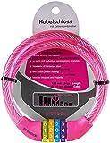 probock Fahrradschloss für Kinder Zahlen-Code-Kombination-Kabel-Schloss für Kinderfahrrad Laufrad - Maße 10 x 650 mm | Edition 2021 (Rosa)