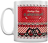 Stranger Things Greetings from Starcourt Mall Coffee - Taza blanca