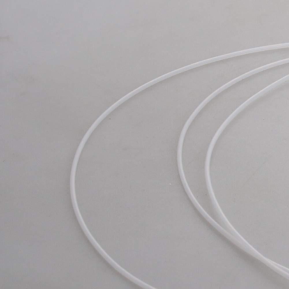 Othmro PTFE Tubing 0.8mmx1.2mmx2m High Temperature PTFE White Tubing Tube 1PCS