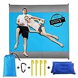 Sand Free Beach Blanket Mat - 82''×79'' 【Include 2 pcs...