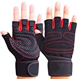 Montague Mond030009 Männer Frauen Half Finger Fitness-Handschuhe Gewichtheber-Handschuhe Schützen...