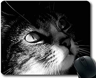 Mouse mat,Cat White Black Mouse pad,Mouse mat for Computer cat276