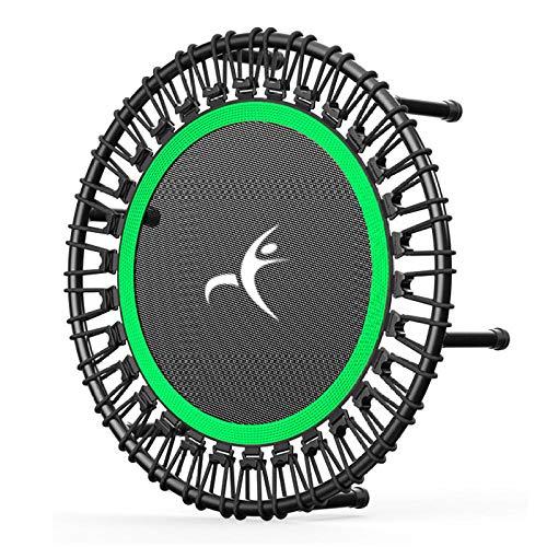 40-Zoll-Fitness-Trampolin prallt zurück Trampolin-Fitnessgeräte für Erwachsene Spezielles elastisches Seil Heim-Fitness-Sportgerät Schwarz-Grün