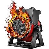 HLJ Pequeños electrodomésticos eléctricos calefactores de Patio al Aire Libre, 2 Potencia del Engranaje PTC Calentador de Ventilador, Calentador de Exterior portátil, Ste