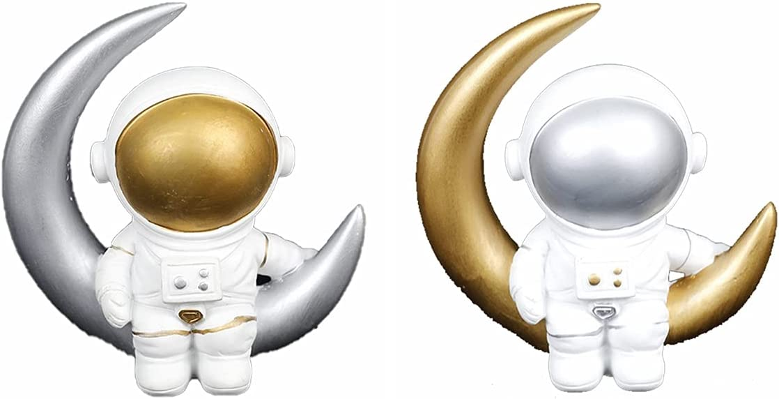 Dongua Astronaut Statue DIY Moon NEW before selling ☆ Figurine Spac Max 41% OFF Resin