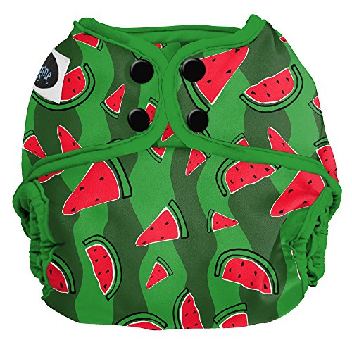 Imagine Baby Products One Size Cloth Diaper Cover, Snap, Watermelon Patch