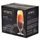 Krosno Pokal Craft Bier-Gläser 0,5 Liter | Set von 6 | 500 ML | Elite Kollektion | Perfekt für Zuhause, Restaurants und Partys | Spülmaschinenfest - 6