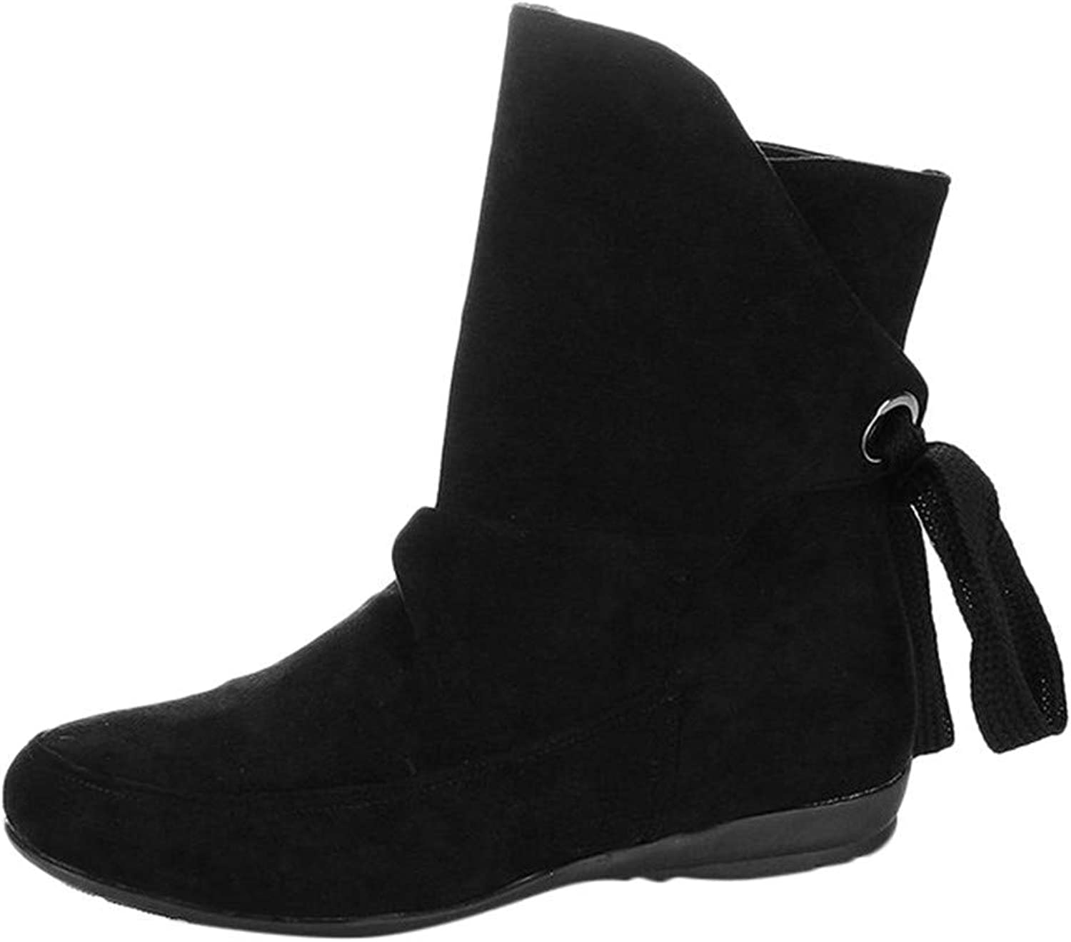JaHGDU Women's Lace Up shoes Buckle Roman Knuckle Short Boots Martin Boots Fashion Cosy Wild Casual Quality Super Elegant Leisure for Womens