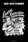 2021-2022 Planner - Learn Knucklehead Engine Repair: Vintage Retro Harley Davidson VTwin themed old styled super cool matte black cover sure to help ... 115 pages of glorious gear head nostalgia.