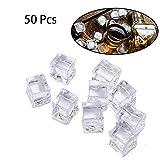 Hielo Falso, Cubitos de Hielo de Acrílico,Cubitos de Hielo de plástico Cristal Lustre, Artificiales de Diamantes, Falsos Cubos, fotografía Props, Cocina Décor