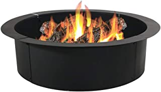 Sunnydaze Fire Pit Ring/Liner - Heavy Duty DIY Above or In-Ground Outdoor Backyard Wood Burning Bonfire Insert Kit - 36-Inch Outer/30-Inch Inner Diameter