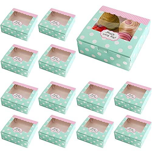 20 Piezas Cajas para Cupcakes, Cajas de Galletas, Cajas de Regalo con...