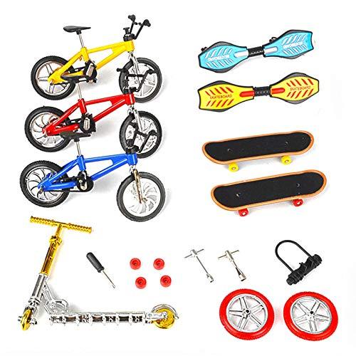 Terynbat Juguete de dedo, simulación creativa mini de aleación modelo de bicicleta de juguete dedo de bicicleta scooter vitalidad de la junta