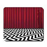 Rrowoke Pack Mouse with Black Lodge Twin Peaks Mouse Pad with Non-Slip Rubber Base Washable Mousepads Comfortable Mouse Pads for 8.3 x 10.3 inch
