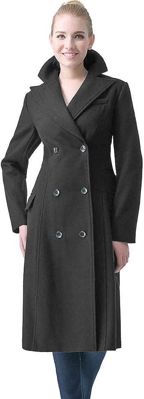 BGSD Women's Romina Wool Blend Long Walking Coat (Regular and Plus Size)