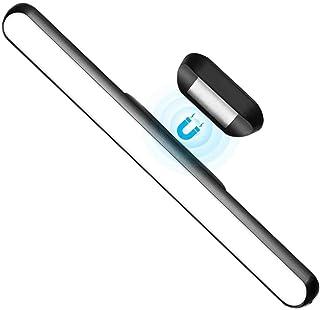 WILLED Dimbar touch ljusstång, 3 W inbyggt 2 000 mAh batteri och stick magnetmontering, för läsning, garderob, skåp, smink...