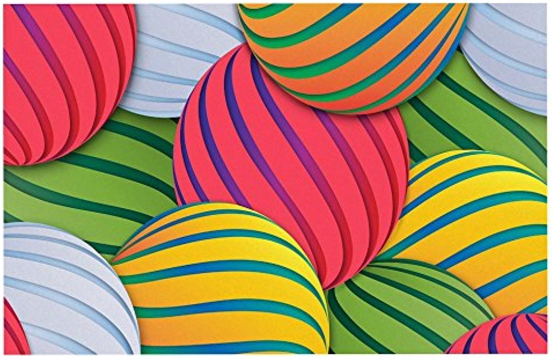 Kess InHouse Danny Ivan Melons  Pink Green Pet Bowl Placemat, 24  x 15
