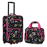Rockland Fashion Softside Upright Luggage Set, Peace, 2-Piece (14/20)