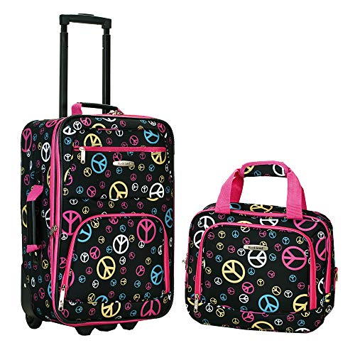Rockland Fashion Softside Upright Luggage Set, Peace, 2-Piece (14/20)