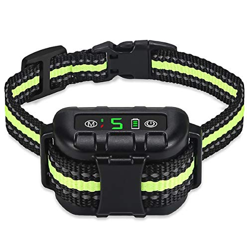 Nycetek Dog No Bark Collar Shock Anti Barking Control Training Devices Rechargeable Citronella Vibration for Small Medium Large Dogs Spray Automatic Waterproof (XL)