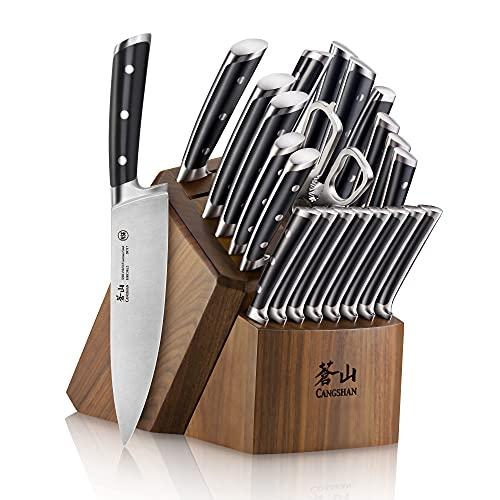 Cangshan S Series 1026054 German Steel Forged 23-Piece Knife Block Set