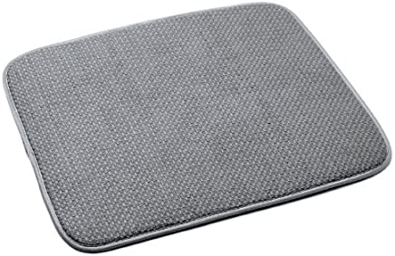 Norpro 18 by 16-Inch Microfiber Dish Drying Mat, Gray