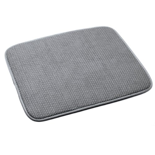 Norpro, Gray 18 by 16-Inch Microfiber Dish Drying Mat, 16 x 18