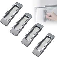 4 stks Self-Stick Keuken Kast Deur Raam Handvat Helper Extra Handvat Sticker Handige Opening Stick-on Handgrepen (Grijs)