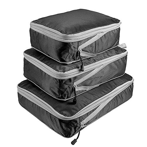 Entweg Storage Pouch, 3pcs Packing Bag Set Compression Bags Luggage Organizer for Travel Bussiness Trip,Packing Cube Set