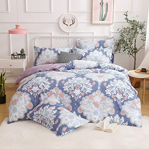 yaonuli Aktives Drucken vierteiliges Verdickungsschleifen vierteiliges indonesisches Bett 1,2 m (Bettbezug 150 * 200 Blatt 160 * 230 Kissenbezug 48 * 74 cm eins)