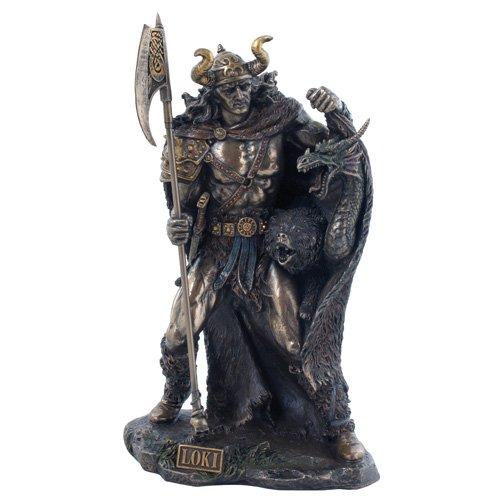 Loki, escultura de Dios nórdico del mal Bronce, orig. Veronese