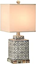 CXQ Simple Modern Ceramic Table Lamp Bedroom Bedside Table Lamp Living Room Creative Crystal Warm Table Lamp
