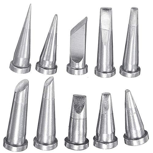 Werse 10 Stücke Lötkolben Tipps für Weller WSD81 WSP80 WD1000 WP80 LT Lötspitze