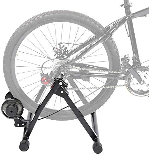 Entrenador de rodillos plegables, ejercicio de bicicleta Soporte magnético para el ejercicio de la bicicleta interior, con rueda reductora de ruido con marco de acero robusto entrenador de bicicleta