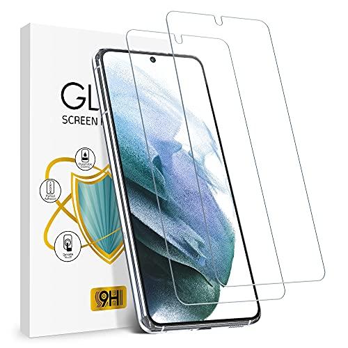wsky Panzerglas für Samsung Galaxy S21 5G, HD Schutzfolie, 9H Härte Displayfolie, Anti-Kratz, Keine Luftblasen Displayschutz Folie für Samsung S21 [2 Stück]