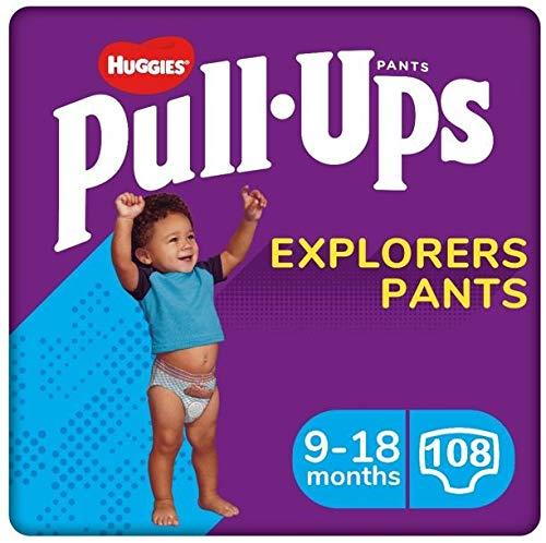 Huggies Pants Pull-Ups Niño Talla 4, 8-12 Kg 108 uds
