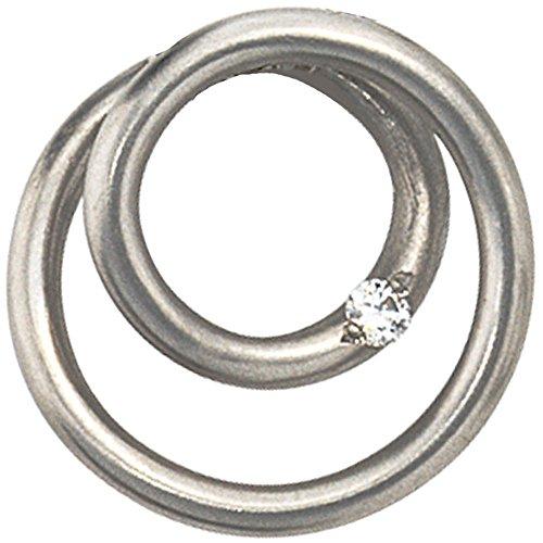 Anhänger runde Spirale mit Diamant Brillant 950 Platin für Damen
