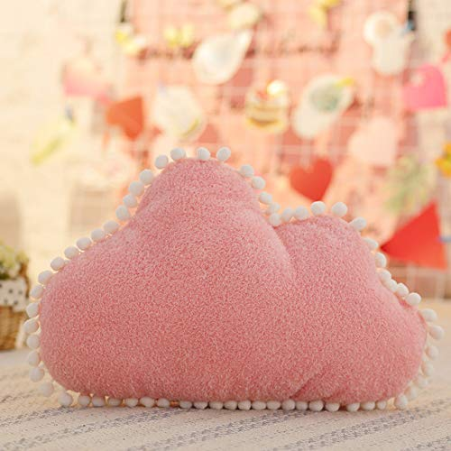 QSMIANA Cuscino Peluche Pillow Rosa Bianco Peluche Star Star Throw Pillow Moon Cushion Bambini Cuscino Divano Home Decor Girls Pillow & Cushion