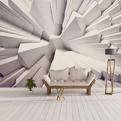 kengbi Moderne minimalistische geprägte Tapetenrolle Foto-Tapeten-Moderne 3D Stereoscopic Geometric Polygon Abstrakt Wohnzimmer Fernsehhintergrund-Wandwand-Papiere Home Decor