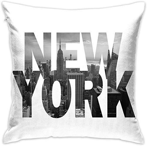 Elsaone Quadrato 18 x 18 Pollici / 45 x 45 cm Cuscino copriletto per Divano Cuscino Personalizzato Federa Regalo per Divano Letto casa Decorazioni Soggiorno - New York City