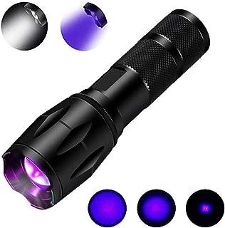 UltraFire UV Taschenlampe LED Schwarzlicht Taschenlampe UV-51,UV Lampe Wellenl/änge 395 nm Mit 51 LEDs UV Licht Wasserdicht Taktische Taschenlampe Jagd Taschenlampe