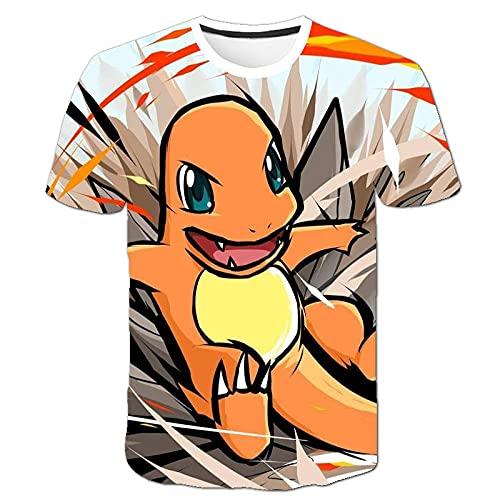 Verano Fin De Semana Pikachu Anime Camiseta De Secado Rápido Camiseta Pokemon Wit 3Dt Camiseta Original Ju Camiseta Grande-3Xl_A78