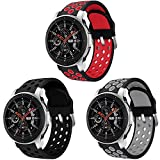 Sycreek 22mm Correa de Reloj Compatible para Samsung Gear S3 Correa de Silicona Doble Color Pulsera de Repuesto para Galaxy Watch 46mm/Gear S3 Frontier/Gear S3 Classic