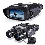 Prismáticos Visión Nocturna, Gafas de Visión Nocturna de 4 Pulgadas con Pantalla LCD, Cámara Digital de Infrarrojos HD con Video de 640P para Detectar La Caza (con Tarjeta de Memoria de 32G)