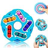 Paochocky Spin Cubo de Rompecabezas antiestrés hilandero de Mano Juguetes para aliviar el estrés para Niños Adultos Libera Estrés y Ansiedad