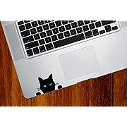 Yadda-Yadda Design Co. Cat Watching - Soon. Cat - Trackpad/Keyboard - Vinyl Decal (BLACK)