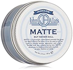 Lightweight, water-based pomade that gives hair detail without the shine Nourishes and conditions hair and scalp with botanical extracts Alcohol free; Great for fine to normal hair types