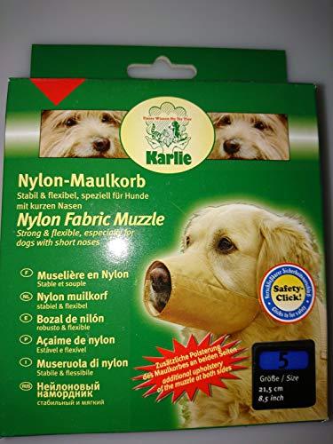 KARLIE Maulkorb NYLON beige für Hunde Gr. 5 (21,5cm)